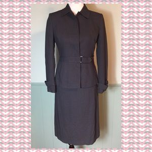Anne Klein Suit -Fitted Contemporary-Slate Blue 2